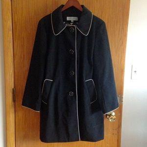 Anne Klein XL black rain coat